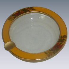 Buckler's Inc 5th Ave Glass and Enamel Holiday Ashtray