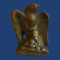 Solid Brass Bird Miniature Figurine