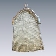 Victorian Dutch 800 Silver Chatelaine Mesh Purse