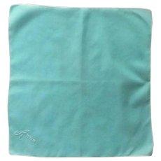 """Anna"" Embroidered Aqua Blue Handkerchief Hankie"