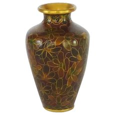 Beautiful Miniature Chinese Asian Cloisonné Cloisonne Vase