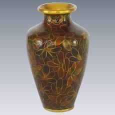 Beautiful Miniature Chinese Asian Cloisonné Cloisonne Vase