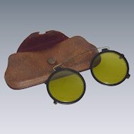 1920-1930 Clip on Steam Punk Like Sun Glasses