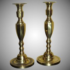 Pair of Brass Candlesticks Made in England