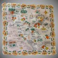 Scalloped California State Handkerchief Hankie