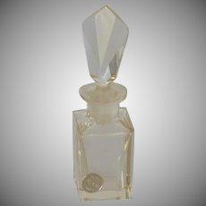 Pasco Clear Glass Czechoslovakian Perfume Bottle 1950's
