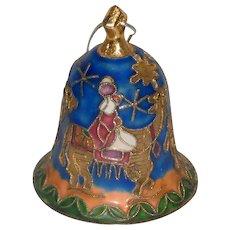 Asian Cloisonné Christmas Bell