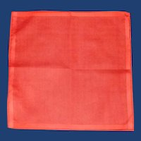 Red Orange Lipstick Linen Handkerchief