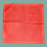 Red Orange Lipstick Linen Handkerchief