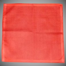 Red Orange Lipstick Handkerchief