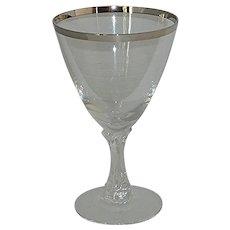 Fostoria Wedding Ring Mid-Century Water Goblet Glass