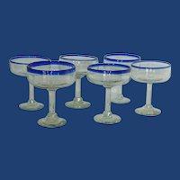 Margarita Happy Hour Hand Blown Glasses Set of 6