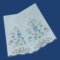 Azores Linen Embroidered Cut Work Hand Towels