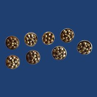 8 Overall Pattern Cut Steel Design Sewing Buttons