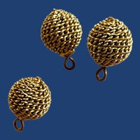 Honey Comb Chain Mesh Round Buttons