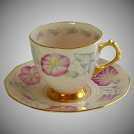 Tuscan Fine Bone China Cabbage Roses Tea Cup