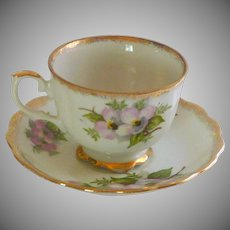Japan Hand Painted Dog Wood Fine Bone China Tea Cup