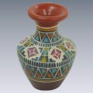 Terra Cotta Miniature Hand painted Urn Vase