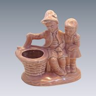 Pink Girl and Boy Fishing in a Well Planter –