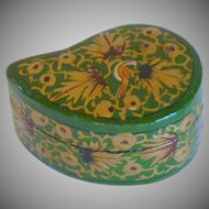 Green Comma Shape Paper Mache Box India