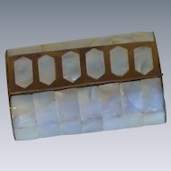 Mother of Pearl Brass Wooden Trinket  Box