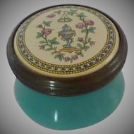 Halcyon Days Enamel Collectible Box Aqua Blue