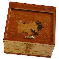 Vintage Japan Cigarette Puzzle Box Dispenser