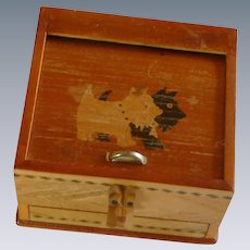 Vintage Japan Cigarette Puzzle Box Dispenser