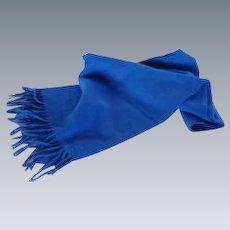 Royal Blue 100% Kaschmir Coat Scarf