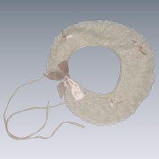 Southern Antebellum Lace Visor Bonnet