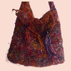 Woven Multi Colored Shoulder Purse 1970's