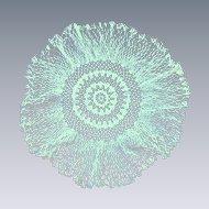 Lovely Off White Crochet Round Doily