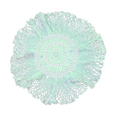 Lovely Off White Crochet Round Doily