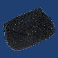 Czechoslovakia Small Black Clutch Hand Purse