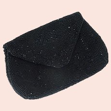 Czechoslovakia Small Black Clutch Hand Purse