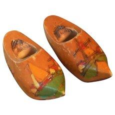 Miniature Dutch Holland Wooden Shoes