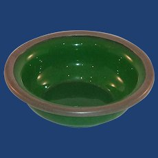 Small Trinket Peking Green Glass Bowl