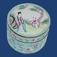 Hand Painted Enamel Powder Box CHINA
