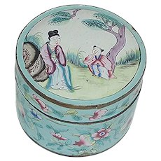Hand Painted Enamel Powder Box CHINA