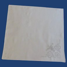 Detailed Pull Work White Handkerchief Hanky