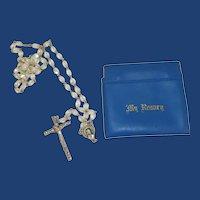 Crystal Aurora Borealis Beads Rosary 1950's