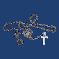 Light Brown Beads Rosary 1950's