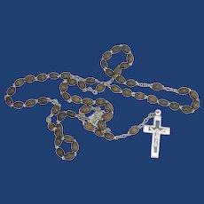 Light Brown Beads Rosary 1950's