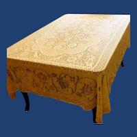 Rectangular Floral Quaker Lace Design Tablecloth