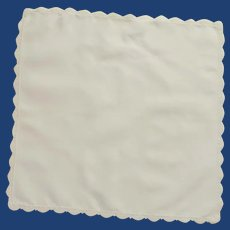 Small Plain White Cotton Handkerchief