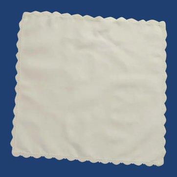 Small Plain White Cotton Handkerchief