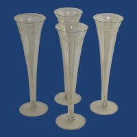Long Tall Sexy Etched Toasting Champagne Flute Glassware