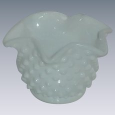 Hob Nail Milk Glass Fenton Star Bonbon Bowl