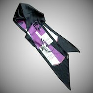 Black and Purple Desco Neck Scarf Kerchief