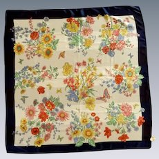 Silken by Berkshire Floral Kerchief Scarf